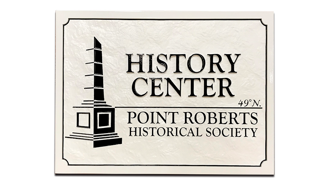 specialty-hdu-sign-sandblasted-pebble-texture-history-center